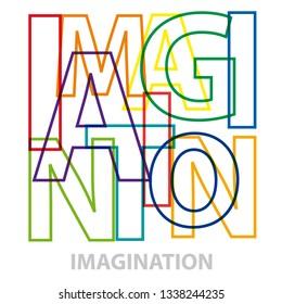 Vector Imagination. Broken text