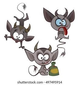 Vector imp, devils for Halloween