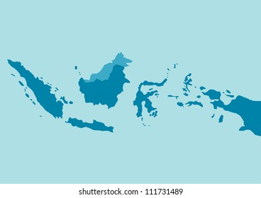 Vector indonesia map