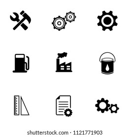 vector Industrial icons set - construction industry illustrations. tool sign symbols