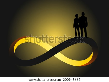 Vector Infinity Sign Two People Man Stock Vector Royalty Free