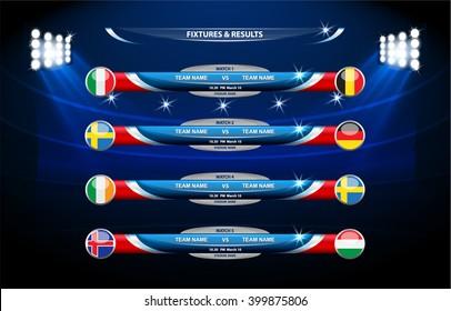 Vector info graphic statistics, score - soccer, football