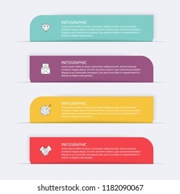 Vector info graphics for your business presentations. Can be used for website layout, numbered banners, diagram, horizontal cutout lines, web design.