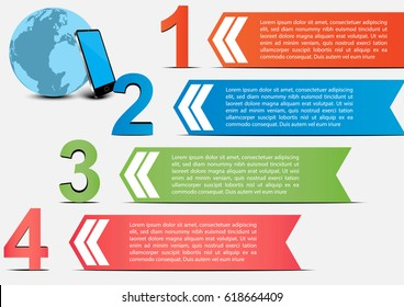 Vector infographic business template some Elements of this image furnished by NASA