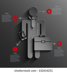 Vector infographic businessman background design. Eps10