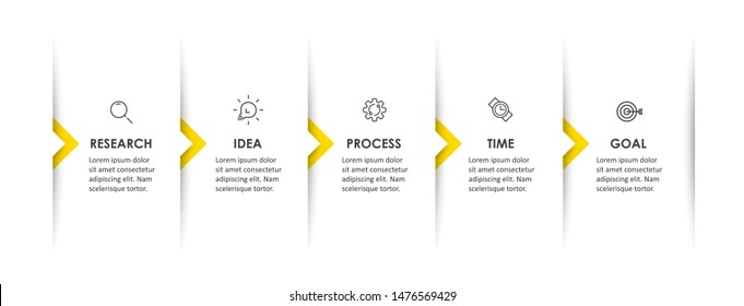 Vector Infographic design with icons and 5 options or steps. Infographics for business concept. Can be used for presentations banner, workflow layout, process diagram, flow chart, info graph