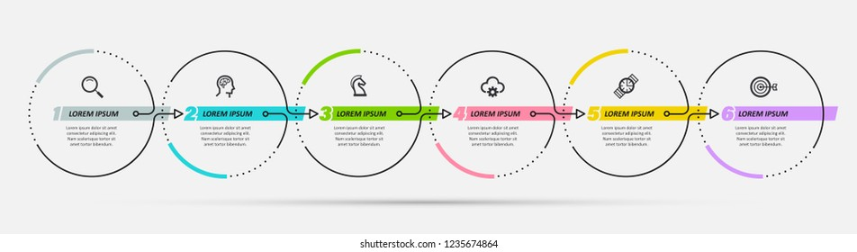 Infographics Timeline Design Icons 11 Options Stock Vector (Royalty