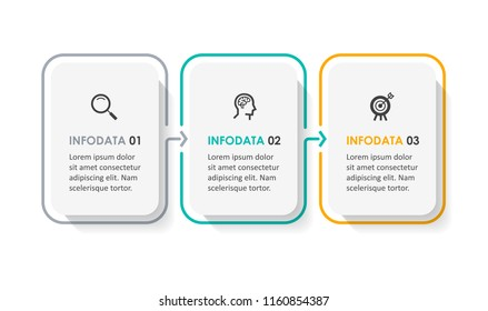 Vector Infographic design template with icons and  3 options or steps. Infographics for business concept. Can be used for presentations banner, workflow layout, process diagram, flow chart, info graph