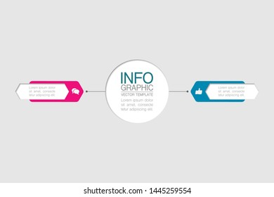 Vector infographic diagram, template for business, presentations, web design, 2 options.