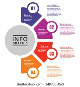 Vector infographic diagram, template for business, presentations, web design, 4 options.