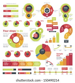 Vector infographic elements and charts