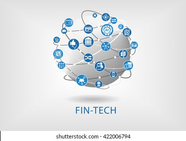 Vector infographic of fin-tech (financial technology) concept