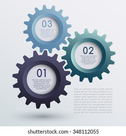 Vector of Infographic Gears : Vector Illustration