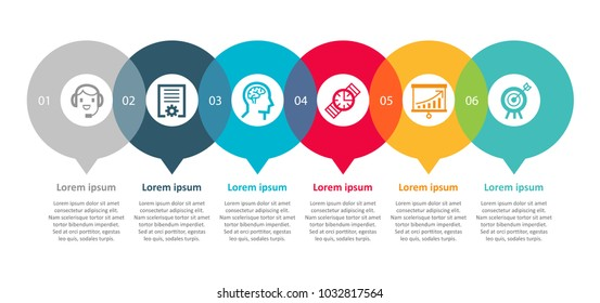Vector Infographic label design with icons and 6 options or steps. Infographics for business concept. Can be used for presentations banner, workflow layout, process diagram, flow chart, info graph
