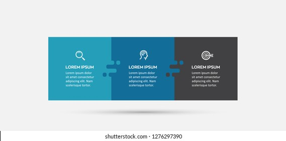 Vector Infographic label design with icons and 3 options or steps. Infographics for business concept. Can be used for presentations banner, workflow layout, process diagram, flow chart, info graph