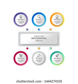 Vector Infographic label design with icons with options or steps. Infographics for business concept. Can be used for presentations banner, workflow layout, process diagram, flow chart and how it work