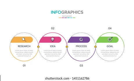 Vector infographic label template with icons. 4 options or steps. Infographics for business concept. Can be used for info graphics, flow charts, presentations, web sites, banners, printed materials