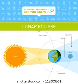 Vector Infographic - Lunar Eclipse