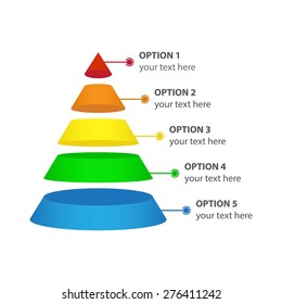 Vector Infographic of Marketing Pyramid, isolated on white