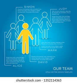 Vector infographic our team company introduction creative template