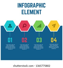 Vector infographic template for business, presentation, and marketing with many color option