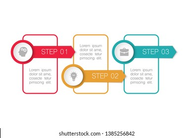 Vector infographic template for business, presentations, web design, 3 options.