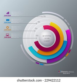 Vector infographic template. Can be used for work flow layout, diagram, timeline, business step options.