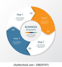 Vector infographic. Template for diagram, graph, presentation and chart. Business concept with 4 options, parts, steps or processes.