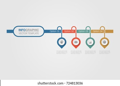 Vector infographic template for diagram, graph, presentation, chart, business concept with 4 options.