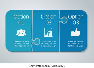 Vector infographic template for diagram, graph, presentation, chart, business concept with 3 options.