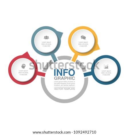 Vector Infographic Template Diagram Graph Presentation Stock Vector
