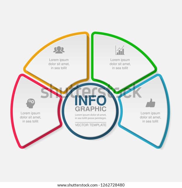 Vector Infographic Template Diagram Graph Presentation Stock Vector Royalty Free 1262728480