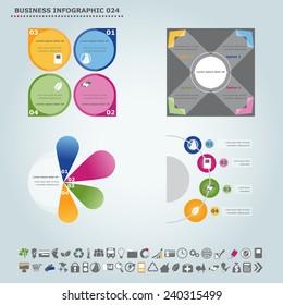 Vector infographic template: Infographic, infochart , diagram & flowchart design for presentation & business