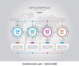 Vector infographic template. Infographics concept with options. Workflow layout. The file is saved in the version 10 EPS. This image contains transparency.