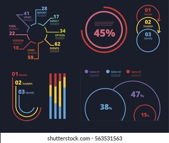 Vector infographic template with integrated circles. Business concept with options. For content, diagram, flowchart, steps, parts, timeline infographics, workflow layout, chart