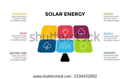 Vector Infographic Template Solar Renewable Energy Stock Vector