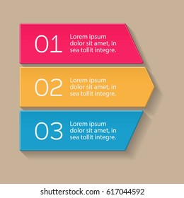 Vector infographic template, three options