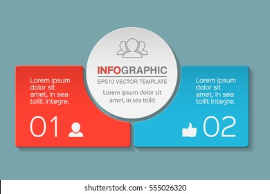Vector infographic template, two options