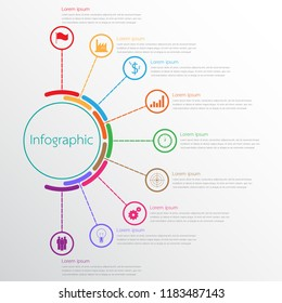 Vector infographic templates used for detailed reports. All 9 topics.