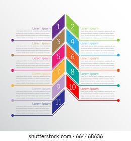 Vector infographic templates used for detailed reports. All 11 topics.