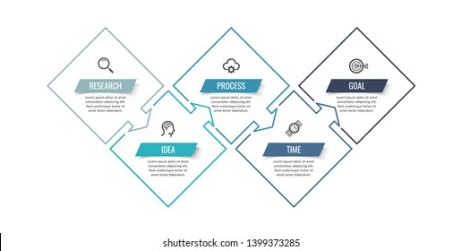 Vector Infographic thin line design with icons and 5 options or steps. Infographics for business concept. Can be used for presentations banner, workflow layout, process diagram, flow chart, info graph