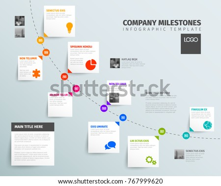 vector infographic time report template diagonal stock vector