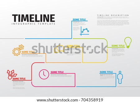 Vector Infographic Timeline Template Icons Made Stock Vector