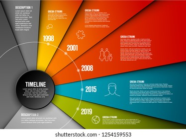 Vector Infographic timeline template made from papers