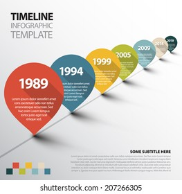 Vector Infographic Timeline Template with retro pointers