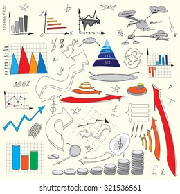Vector infographics elements graphics and diagrams, drawing