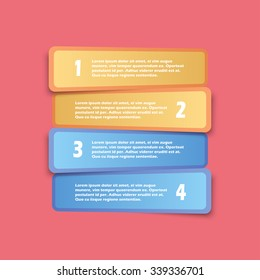 Vector Infographics Options Banner, Pastel Color Rounded Rectangle, for workflow layout, diagram, number options, web design