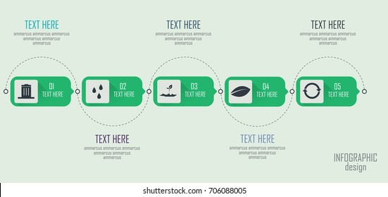 Vector infographics template with 5 options. Vector illustration. Can be used for workflow layout, business step options, banner, web design, nature, education.