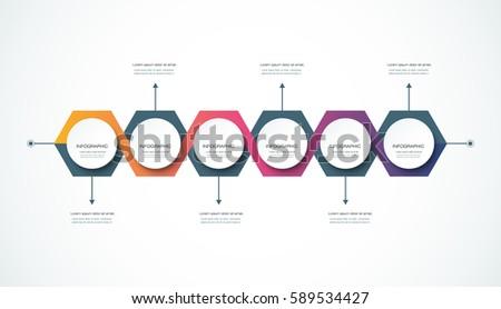 vector infographics timeline design template 3 d stock vector