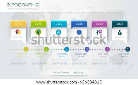 vector infographics timeline design template 3 d のベクター画像素材